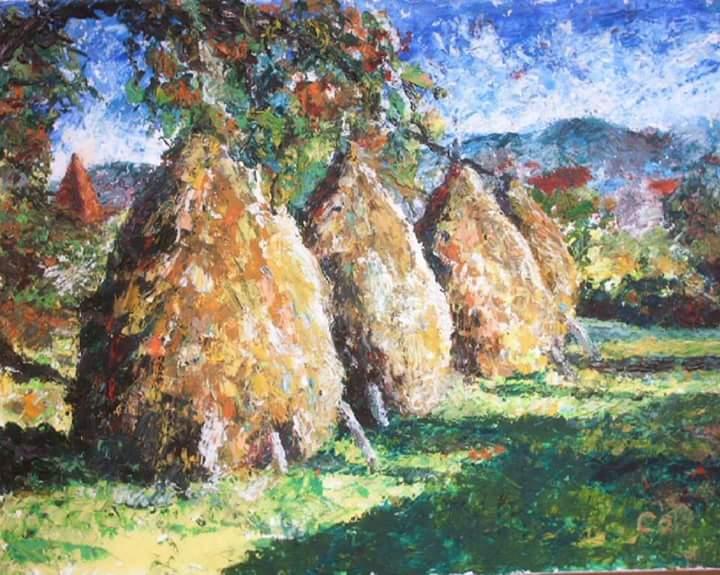 Capite peisaj tablou ulei panza