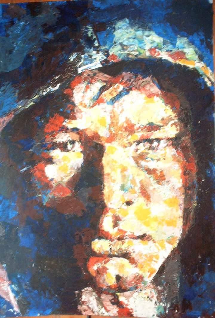 Portret barbat Crina Oprean ulei pe panza