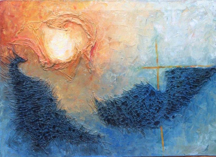 Manifestare tablou pictura Antonela Giurgiu ulei cruce