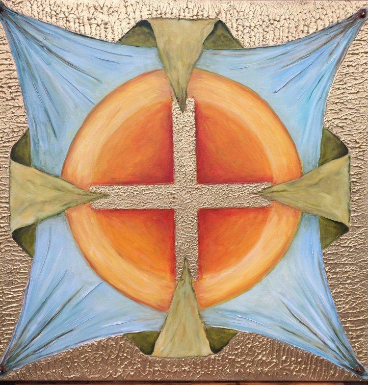 Tablou pictura cruce crestina marturisire credinta Antonela Giurgiu