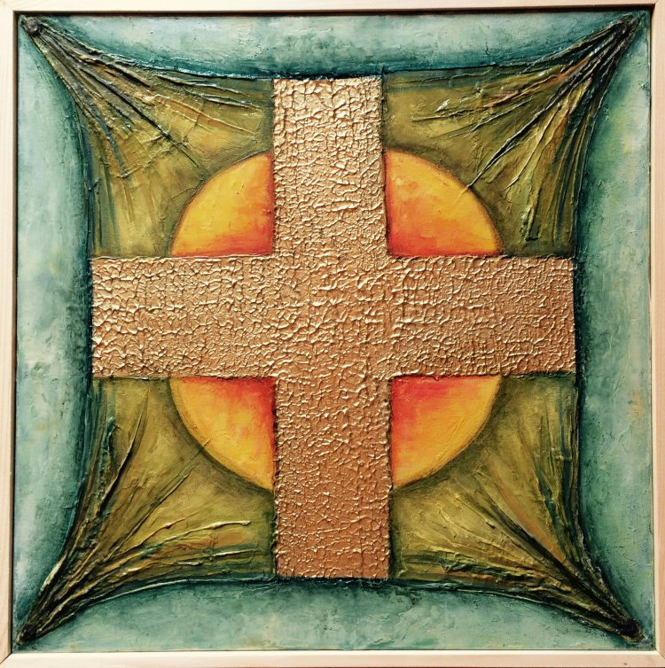Putere adevar tablou cruce soare lumina Antonela Giurgiu