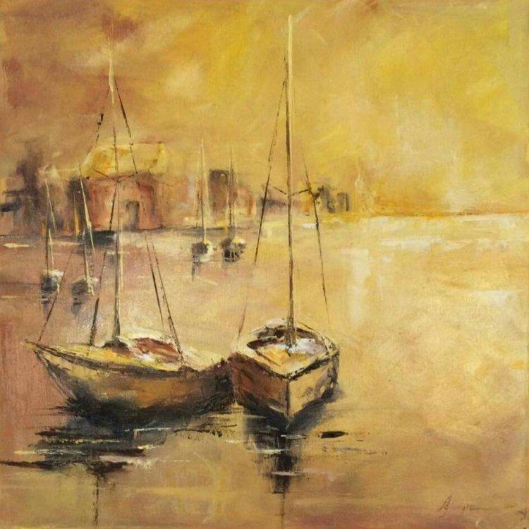 Barca apa aur mare Antonela giurgiu tablou pictura