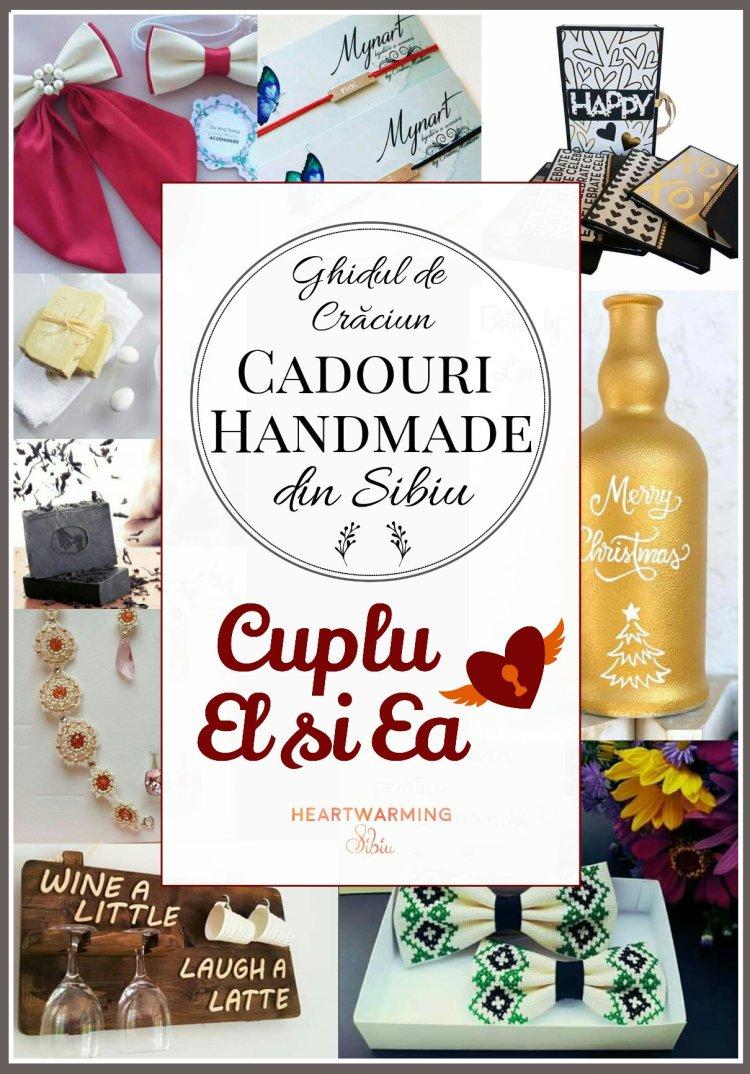 Cadouri cuplu el ea femeie barbat handmade arta craciun heartwarming sibiu