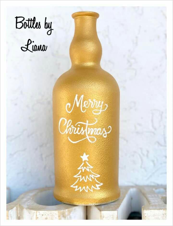 Sticla personalizata mesaj craciun cadou handmade artizan heartwarming sibiu
