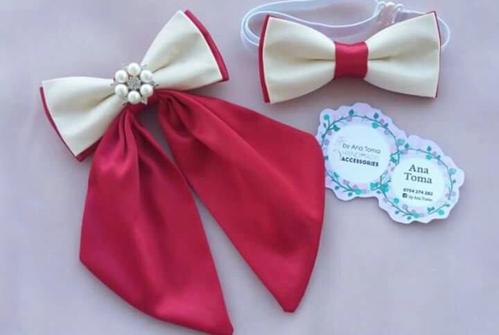 Papion femeie barbat elegant alb rosu Ana Toma accesorii heartwarming sibiu cadou cadouri