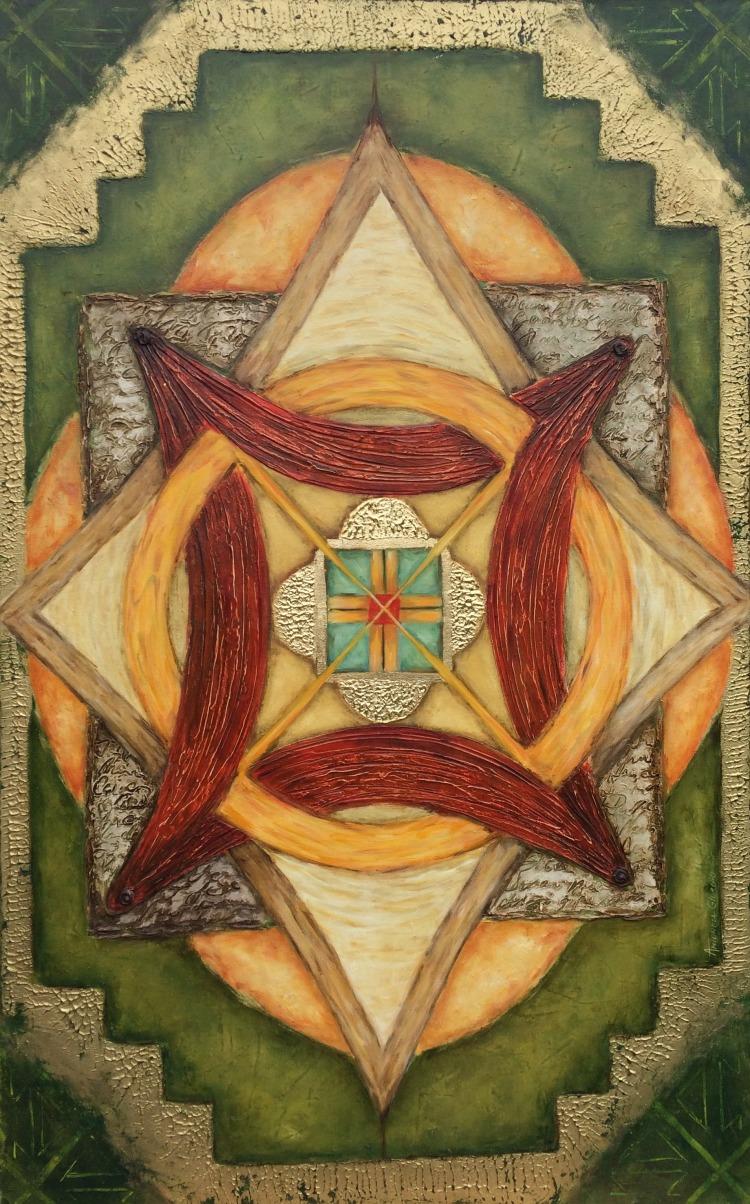 Antonela Giurgiu tablou pictura prapor crestin credinta