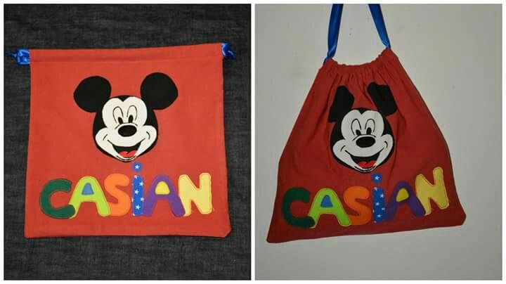 Saculeti sac gradinita personalizat personaj preferat handmade cadou craciun jo's crafts heartwarming sibiu