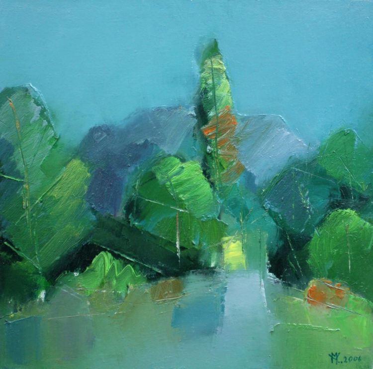 Peisaj verde vasile muresan pictor