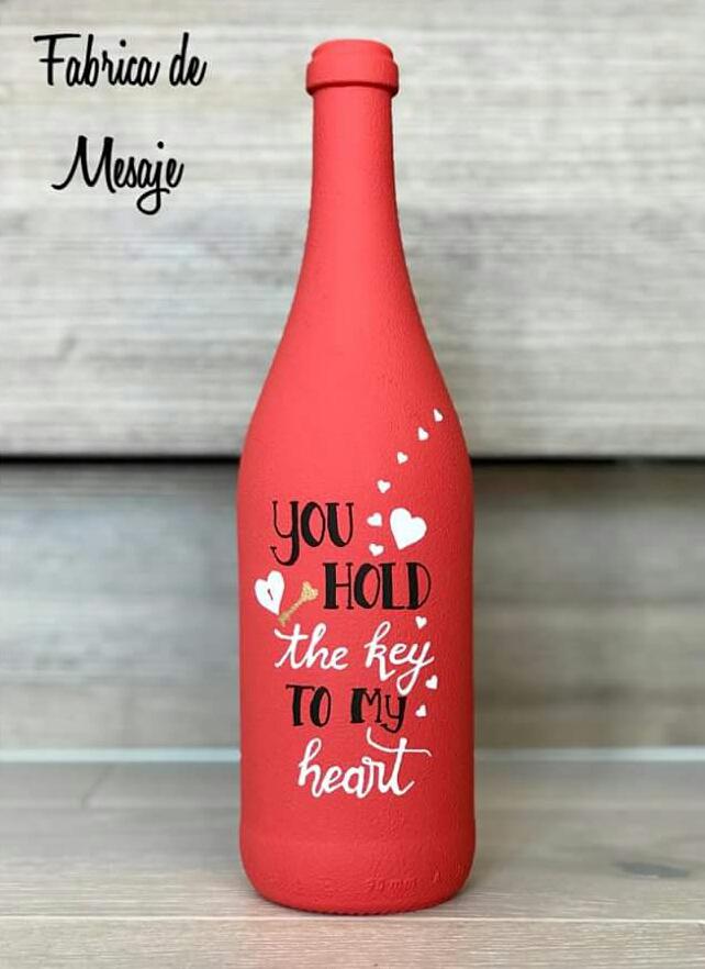 Sticla personalizata mesaje iubire sibiu