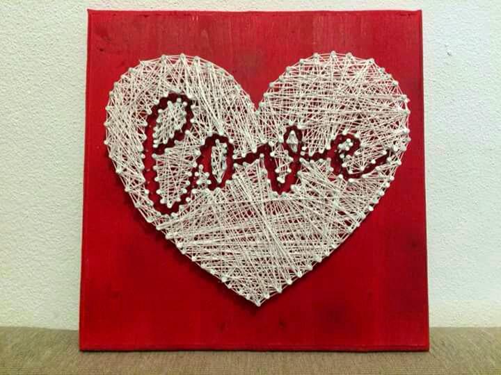 Tablou string art love rosu sibiu