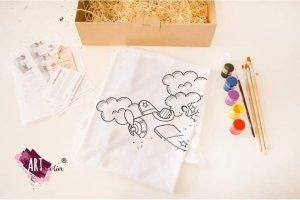Set creativ pictură copii avion tricou
